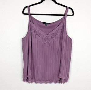 WHBM Mia Pleated Cami in Dried Lavender Size XL